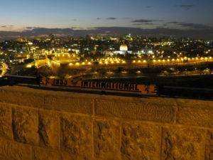 Blick vom Ölberg auf Jerusalem, Israel